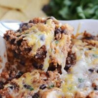 Cheesy Black Bean Quinoa Bake