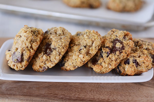 Quinoa Chocolate Chip Oatmeal Granola Cookies