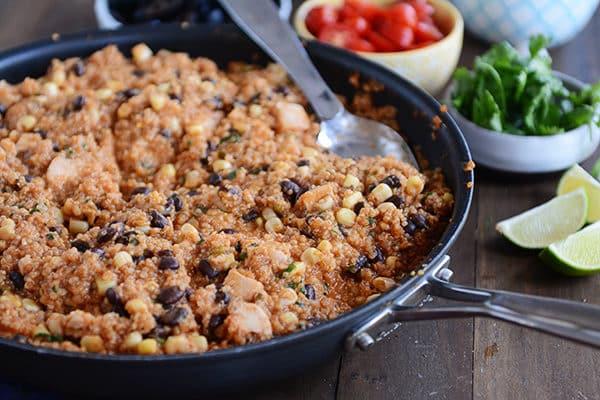 30-Minute Quinoa Enchilada Skillet Meal