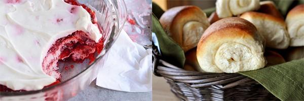 rasberry and rolls