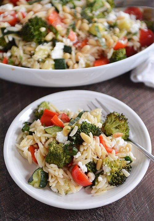 Orzo Summer Salad with Roasted Vegetables | Mel's Kitchen Cafe