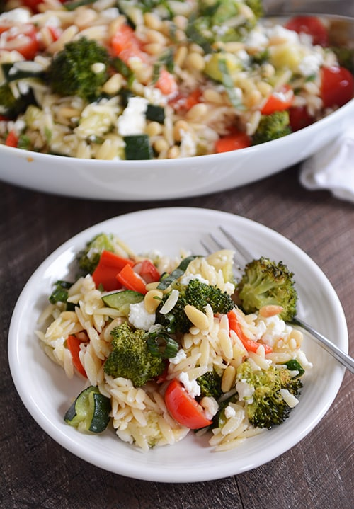 Orzo and Roasted Vegetable Summer Salad