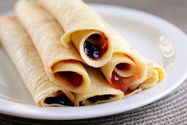 Rollup Blender Pancakes