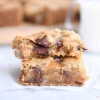 Salted Caramel Brown Butter Chocolate Chip Bars