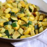 Skillet Zucchini and Yellow Squash {My Fave Summer Side}