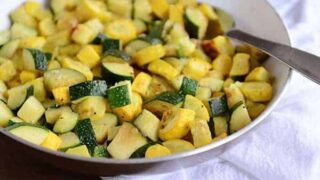 Simple Skillet Zucchini and Yellow Squash