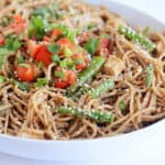 Sesame Chicken Pasta with Thai-Style Peanut Sauce