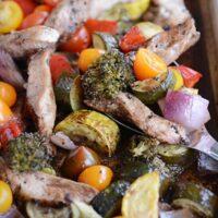 Sheet Pan Balsamic Chicken and Veggies