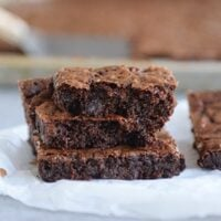 Sheet Pan Fudgy Chocolate Brownies