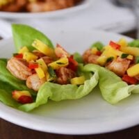 Shrimp and Mango Salsa Lettuce Wraps