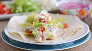 Greek Chicken Burritos {or Wraps}