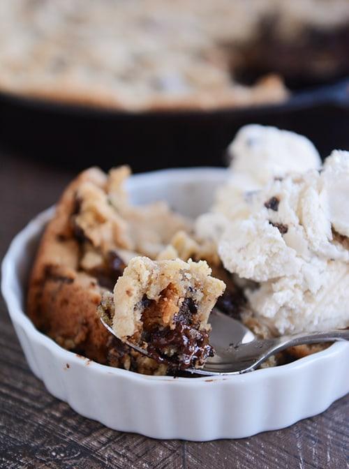 Soft Baked Skillet Cookie