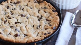 Soft Baked Skillet Cookie {Egg-Free}