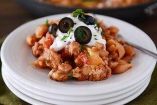 Skillet Taco Pasta Shells {30-Minute Meal}
