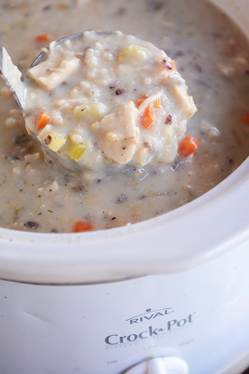 49 Responses to Slow Cooker Creamy Chicken and Wild Rice Soup