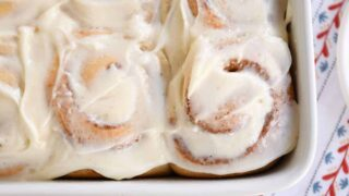 Perfect Small Batch Cinnamon Rolls