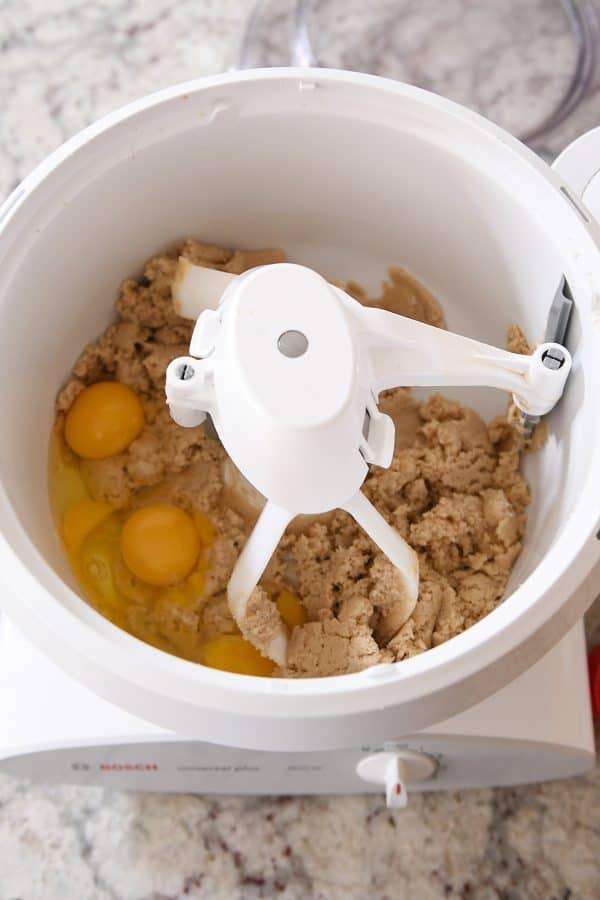 Bowl scraper attachment for Bosch stand mixer.