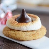 S'Mores Hershey Kiss Blossom Cookies