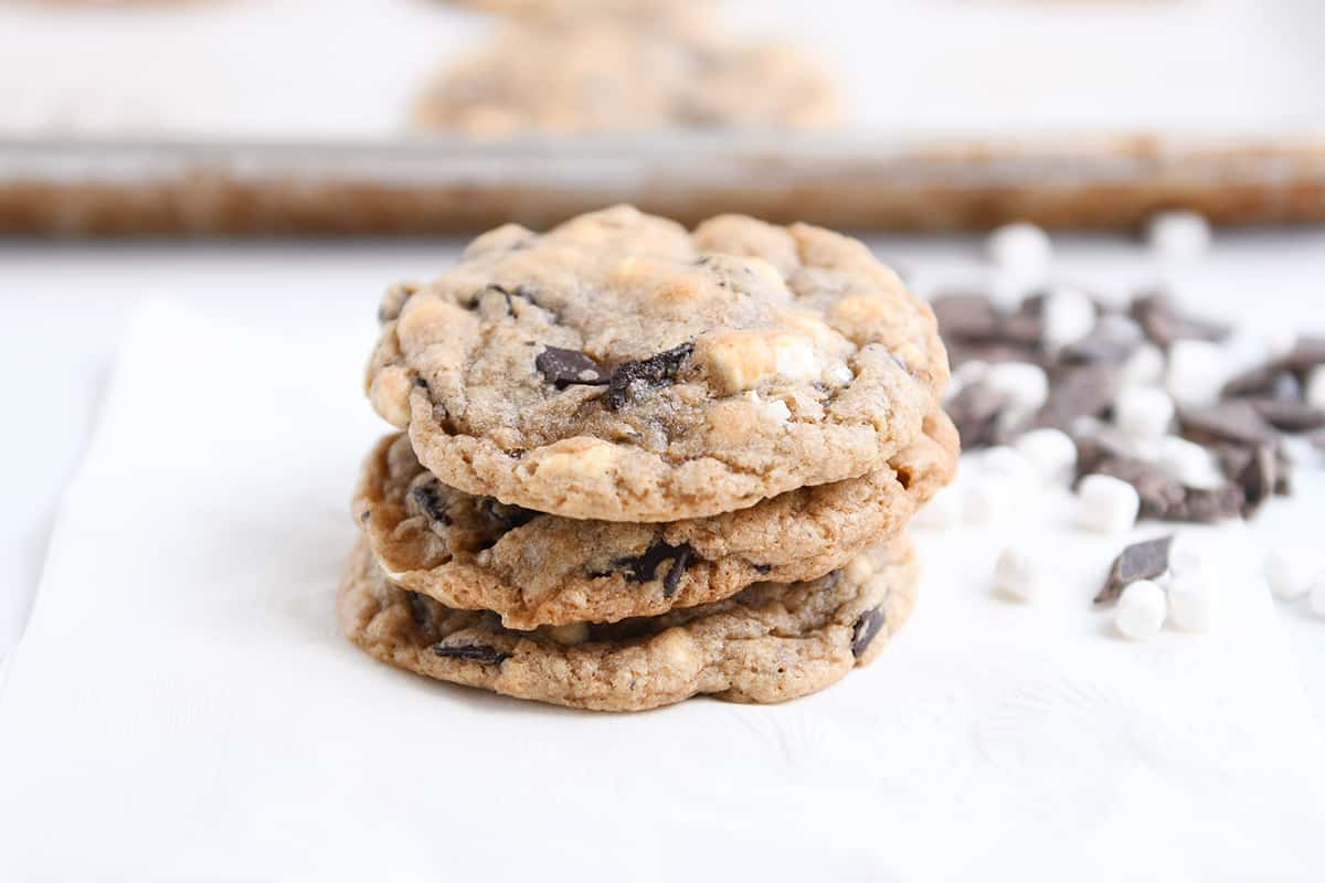 S'Mores Chocolate Chip Cookies | Mel's Kitchen Cafe