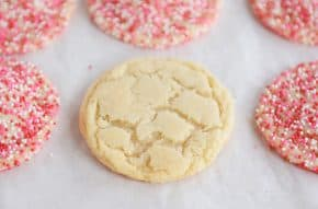 Soft and Chewy Drop Sugar Cookies {with Valentine's sprinkles}