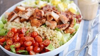 Southwest Grilled Chicken Cobb Salad with Honey Mustard Ranch Dressing
