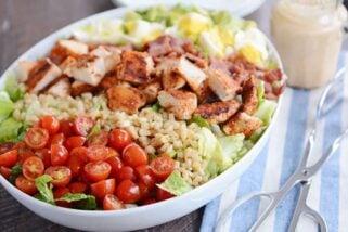 Southwest Grilled Chicken Cobb Salad with Honey Mustard Ranch