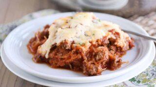 Easy Spaghetti Squash Spaghetti Bake