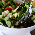 Spinach, Apple & Gouda Salad with Honey Mustard Dressing