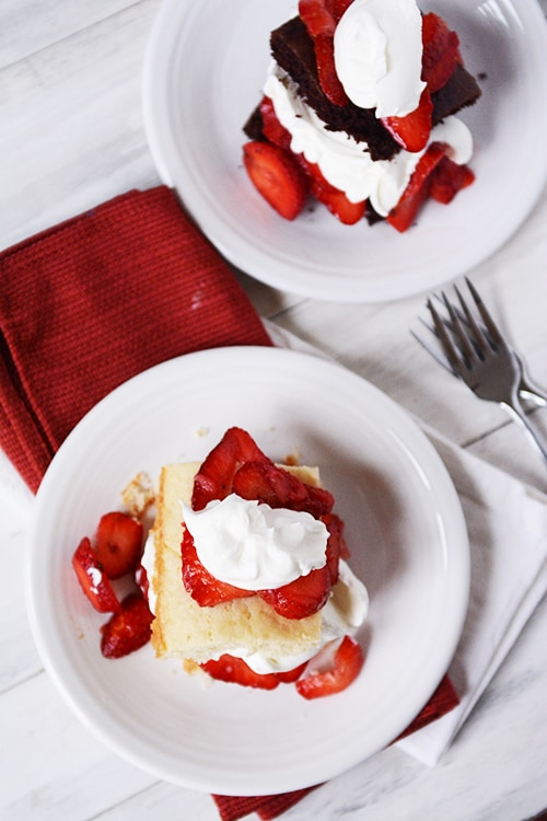 Classic Strawberry Shortcake {With a Decadent Chocolate Version}