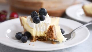 Berries and Cream Pie with Pecan-Graham Cracker Crust