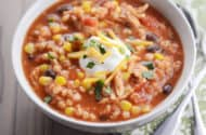 Southwestern Barley Chicken Chili