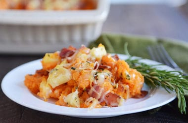 Stuffed Bacon and Apple Sweet Potato Casserole