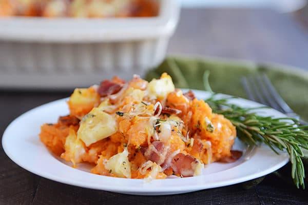 Stuffed Bacon and Apple Sweet Potato Casserole