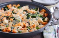 Chicken Sweet Potato Kale Skillet Meal