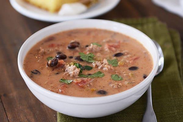 Creamy Black Bean Taco Soup
