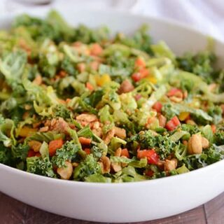 Chopped Thai Salad with Honey Garlic Dressing