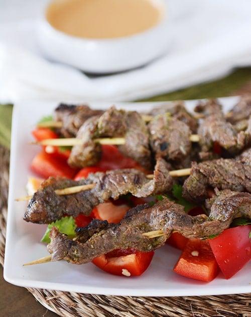 Simple Thai Beef Satay