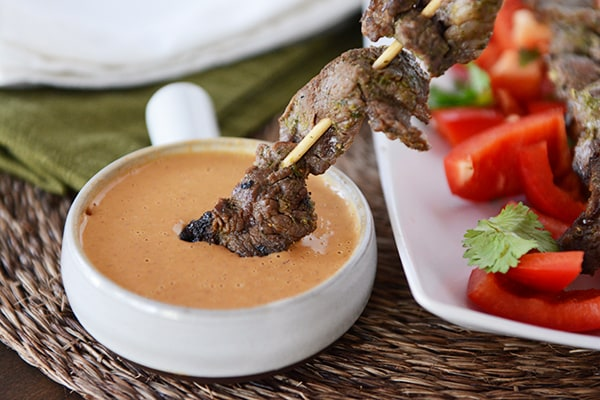 Thai Beef Satay Skewers