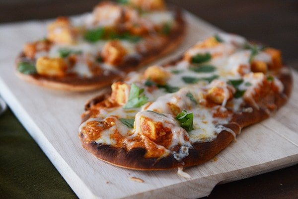 Chicken Tikka Pizzas - 20-Minute Meal