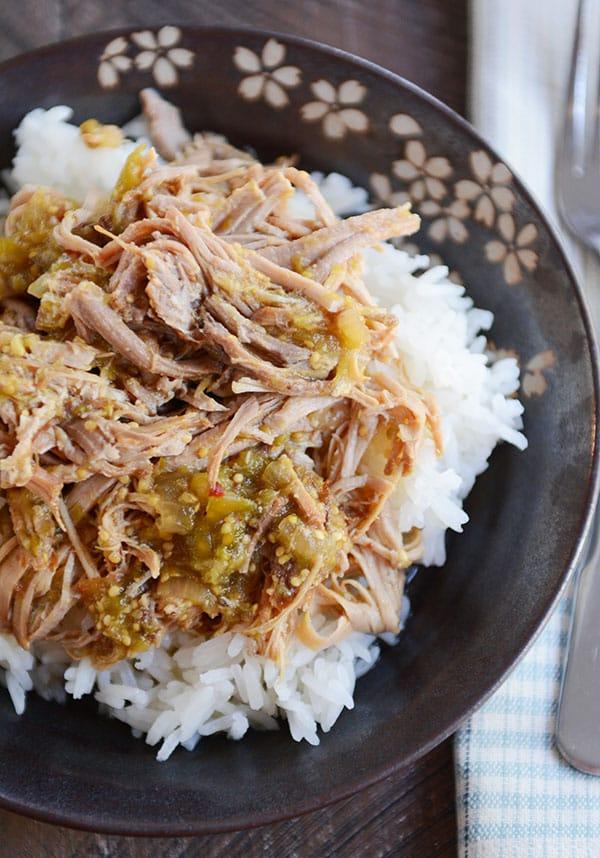 Slow Cooker Sweet Tomatillo Chipotle Pork
