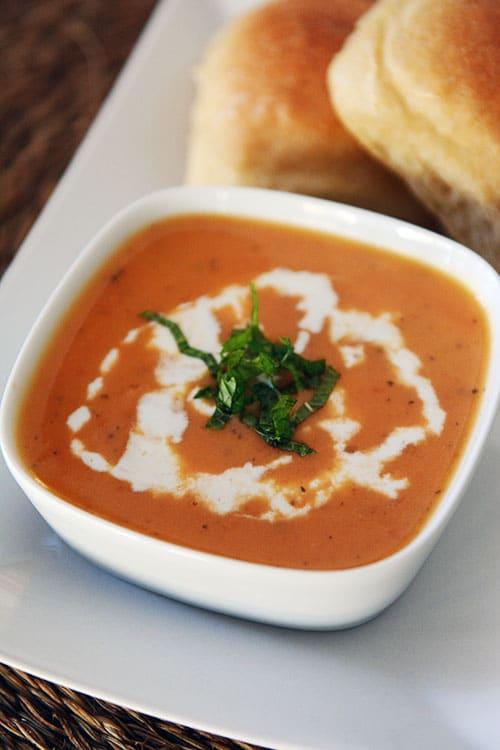 Creamy Tomato Potato Basil Soup