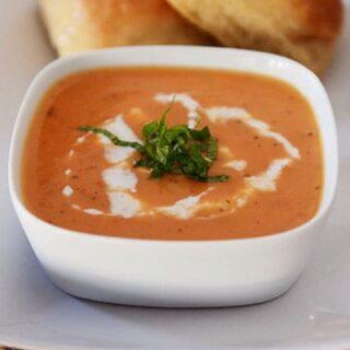 Creamy Tomato-Potato Basil Soup