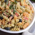 Tri-Color Pasta Salad {My Favorite Pasta Salad}