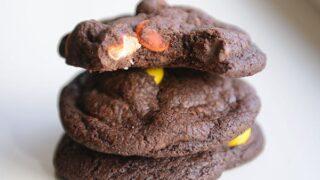 Triple Chocolate Fudge Peanut Butter Cookies