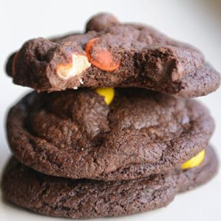 Triple Chocolate Fudge PB Cookies