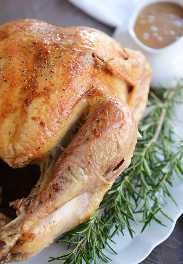 Simple Roasted Turkey For Thanksgiving Perfect Gravy Mel S Kitchen Cafe