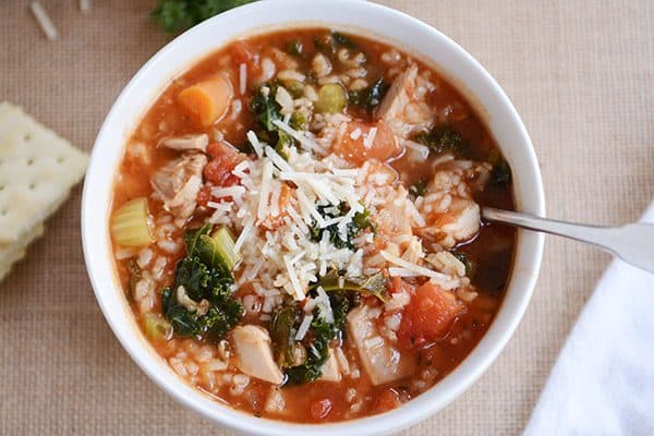 Turkey {or Chicken} Brown Rice Soup