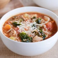 Turkey {or Chicken} and Brown Rice Soup