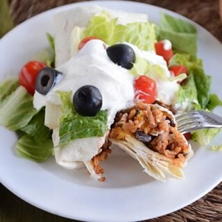 Turkey and Brown Rice Taco Burritos
