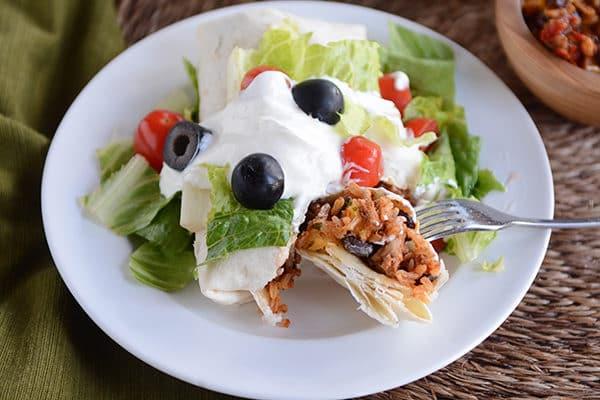 Turkey and Brown Rice Taco Burritos
